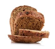 Whole wheat bread,  on white background Stock Photography