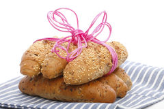 Whole wheat breads Stock Photo