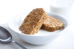 Whole wheat breakfast biscuits. Royalty Free Stock Photos