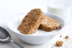 Whole wheat breakfast biscuits. Royalty Free Stock Image