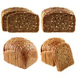 Whole wheat brown bread and Wholemeal Rye Bread Stock Photos