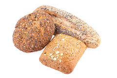 Whole wheat buns Royalty Free Stock Photography