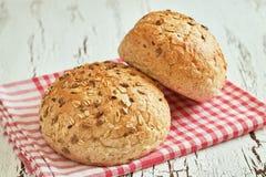 Whole wheat buns Stock Photo