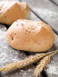 Whole wheat buns Royalty Free Stock Image