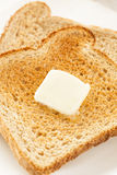 Whole Wheat Buttered Toast Royalty Free Stock Images