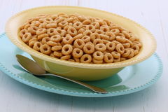Whole wheat cereal loops Stock Photography