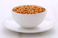 Whole wheat cereal loops Stock Photos