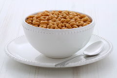Whole wheat cereal loops Royalty Free Stock Photography