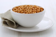 Whole wheat cereal loops Stock Image