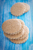 Whole wheat cinnamon cookies Stock Photography