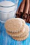 Whole wheat cinnamon cookies Royalty Free Stock Images
