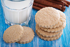 Whole wheat cinnamon cookies Stock Images