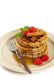 Whole wheat cinnamon waffles Royalty Free Stock Photos
