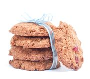 Whole wheat cookies. On white background Royalty Free Stock Photography