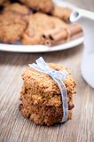 Whole wheat cookies Stock Photos