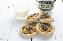 Whole wheat cookies with apples Stock Photos