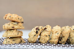Whole wheat cookies Royalty Free Stock Images