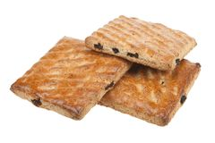 Whole wheat cookies with fruit isolated Stock Photography