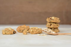 Whole wheat cookies. And Materials stock photos