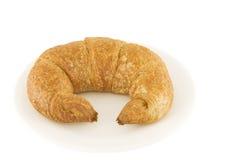 Whole wheat croissant stock photo