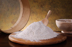 Whole wheat flour Stock Photography