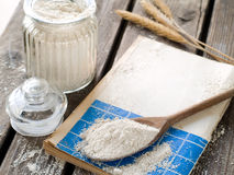 Whole wheat flour Stock Image
