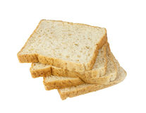 Whole wheat grain bread on white background Stock Image
