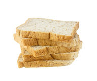 Whole wheat grain bread on white background Royalty Free Stock Images