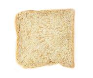 Whole wheat grain bread on white background Royalty Free Stock Photo