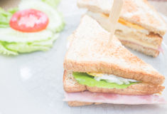 Whole wheat ham and cheese sandwich Royalty Free Stock Image