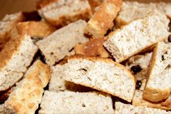 Rusks background Royalty Free Stock Photo