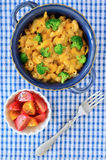 Whole wheat macaroni and cheese Royalty Free Stock Photos