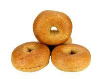 Whole wheat mini bagels Royalty Free Stock Photo