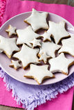 Whole wheat and oatmeal star cookies Stock Photo