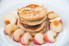 Whole Wheat Pancakes Royalty Free Stock Photography