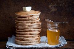 Whole Wheat Pancakes stock image