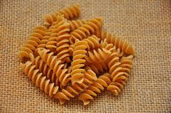 Whole wheat pasta Royalty Free Stock Photo