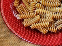 Whole wheat pasta Stock Photos
