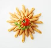 Whole wheat pasta Stock Image