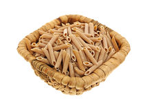 Whole Wheat Pasta Basket Stock Photo