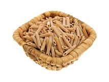 Whole Wheat Pasta Basket Stock Photo