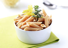 Whole wheat pasta Stock Image