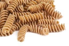 Whole wheat pasta isolated Stock Image
