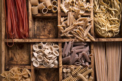 Whole wheat pasta Royalty Free Stock Images