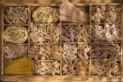 Whole wheat pasta Stock Photo