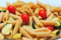 Whole wheat pasta salad Stock Photography