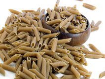 Whole wheat penne pasta Royalty Free Stock Image