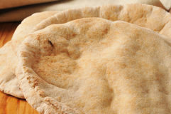 Whole wheat pita bread Royalty Free Stock Images