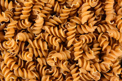 Whole Wheat Rotini Pasta Stock Photo
