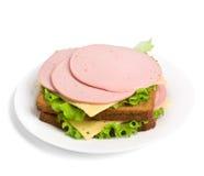 Whole wheat sandwiches Stock Photos